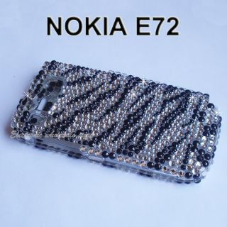 Black Zebra Full Rhinestone Bling Case Cover Nokia E72