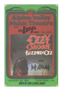 North American BLIZZARD OF OZZ Tour with guitarist RANDY RHOADS