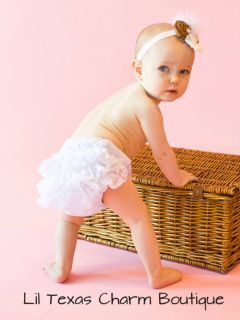 Baby Bloomers diaper cover 18 24mo 2T photo prop Ruffle bottom bloomer