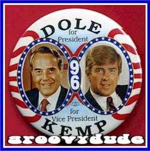 Bob Dole Jack Kemp 1996 President Political Campaign Pin Button