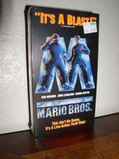 Super Mario Brothers starring Bob Hoskins VHS 1993 New 765362008032