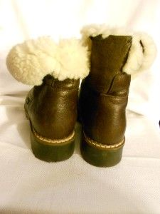 1990s Vintage Blondo Canadian Shearling Ankle Winter Leather Boots US