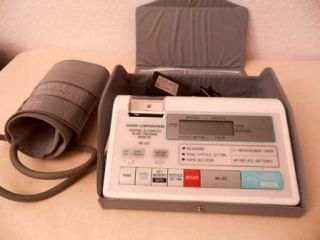 Printing Automated Blood Pressure Monitor w/cuff and case + Adapter