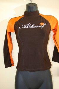 Alohasurf Ladies Rash Guard Surf Shirt SPF 50 RGLLS Brn