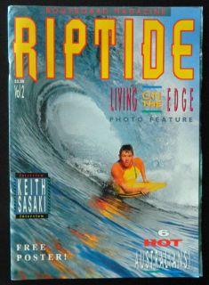 Riptide issue #2 1990 Vintage Bodyboarding Aust Magazine Rare