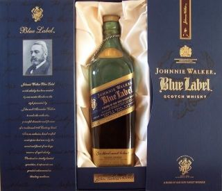 New Johnnie Walker Blue Label Bottle and Box