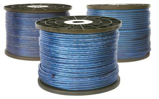new 45 ft Blue Car Home Audio Speaker Wire Oxygen Free