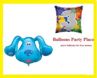 Blues Clues Birthday Party Balloons XL 1st 2nd 3rd 4th Bouquet