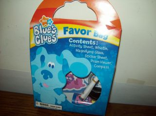 Blues Clues Birthday Party Favor Bags. Each With 6 Items New
