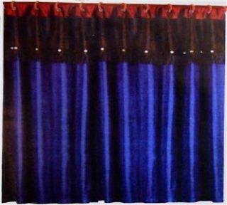 Western Cowgirl Decor Blue Denim Jeans Shower Curtains