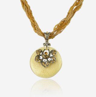 Bohemia Chunky Metallic CZ Crystal Glass Beads Necklace Pendant B617K