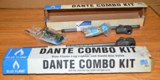 Blue Flame Dante Combo Kit Log Lighter and Gas Valve Fireplace Stove