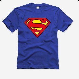 SALE movie FILM topic sport BLUE tone solid SUPER MAN T shirt man