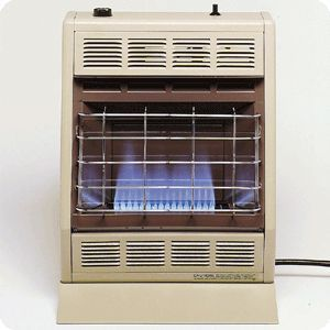 BF20 Vent Free Blue Flame Thermostatic Natural LP Gas Heater