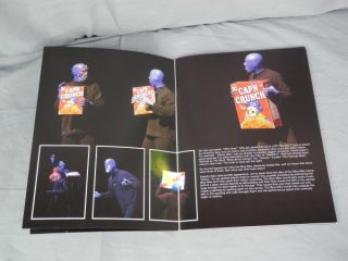 Blue Man Group Program Picture Book The Venetian Las Vegas Nevada