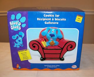 NEW IN BOX BLUES CLUES BLUE THINKING CHAIR CERAMIC COOKIE JAR