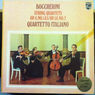 QUARTETTO ITALIANO boccherini string quartets no 1/2/3 LP Mint  9500