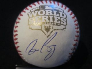 Bruce Bochy Signed 2012 World Series Baseball PSA DNA San Francisco