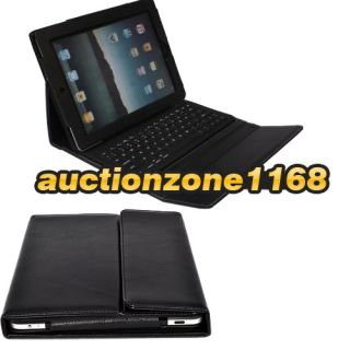 Bluetooth Keyboard Leather Case with Stand for Apple iPad 3 Tablet