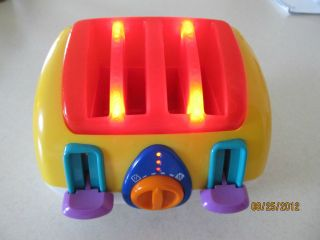 VINTAGE MUSICAL TOY TOASTER~~BLUE BOX TOYS~~WORKS GREAT AND LOOKS