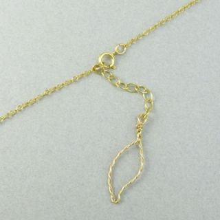 By Boe Twisted Wire Leaf Long NECKLACE14K Gold Filled