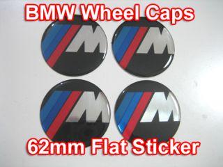 bmw m wheel center caps emblem sticker flat a565