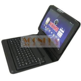 Bluetooth Keyboard Leather Case Motorola Xoom Tablet