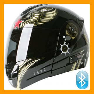 T22B Modular Bluetooth Motorcycle Helmet Aviator XS s M L XL