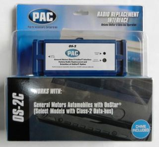 Pac OS 2c OnStar Radio Replacement Interface for GM Vehicles Without
