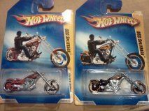 2009 Hotwheels OCC Splitback Orange County Choppers   2 different FREE