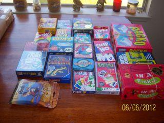 20 Card Games Uno Skip Bo Mille Bornes Canasta Caliente Waterworks Etc