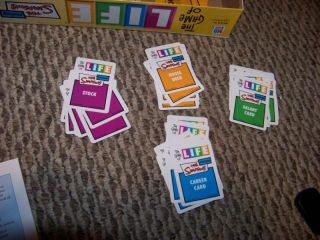 Simpsons Game of Life Board Game Parts Cards