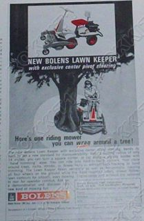 1964 Bolens Lawn Keeper Riding Mower Ad