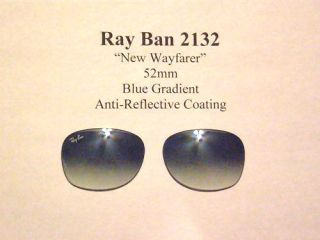 New Replacement Pair Gradient 52mm Lenses Ray Ban RB2132 Wayfarer