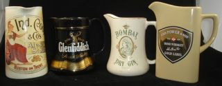 Vintage Pub Water Pitcher Jug Beer Gin Ireland Whiskey