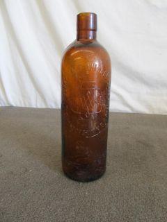 Duffy Malt Whiskey Bottle – Antique Brown/Amber Glass Liquor