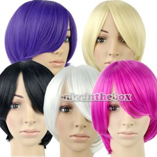 5Color Bob Style Hair Wigs Wig Short Straight Full Wig Synthetic Party