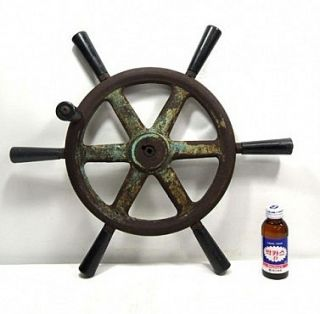 nautical marine cast iron ship boat steering wheel   real wheel