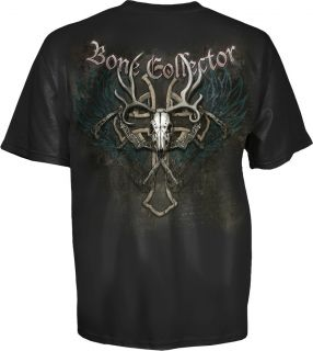Bone Collector Cross Skull Logo Brotherhood T Shirt