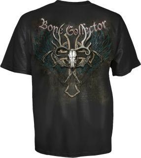 Bone Collector Cross Skull Logo Brotherhood T Shirt