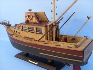Jaws Orca 20 Scale Wooden Model Fishing Boat No Kit