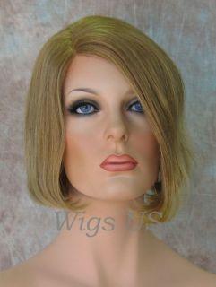 Wigs 100 Human Hair Monofilament Short Bob Wig Blonde Red Brown