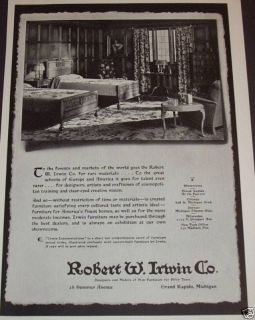 1931 Robert w Irwin Co Grand Rapids MI Furniture Ad