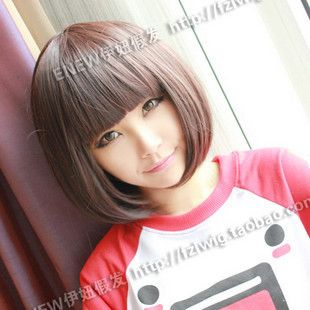 1582 New Short Dark Brown Fashion Bob Wig