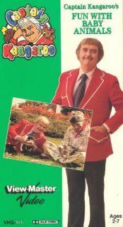 Kangaroos Fun With Baby Animals VHS Viewmaster Video, Bob Keeshan