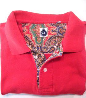 Robert Graham Red Short Sleeve Polo Shirt XL