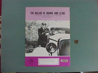 1967 The Ballad Of Bonnie And Clyde sheet music Pop song made during
