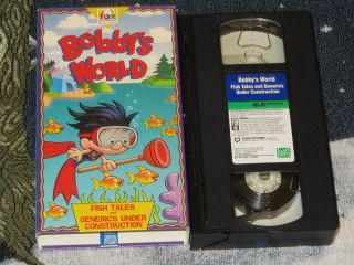 Bobbys World Fish Tales VHS Fox Kids Video Tape Cartoon Howie Mandel