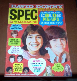 1971 David Cassidy Michael Jackson 5 Bobby Sherman Osmonds