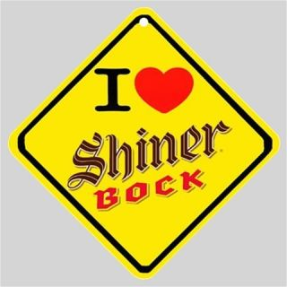 New Order  I Love Shiner Bock Beer  Logo Car Window Sign